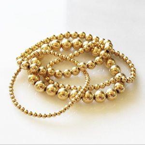 5 14K gold filled bracelets